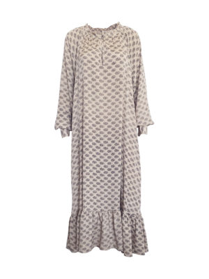 Roxana Dress, SISSEL EDELBO, beige med sort print, Fair Fashionista